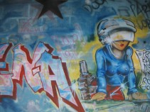 fresco graffiti in a bar