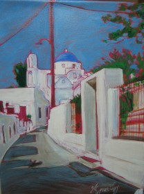sifnos5, acrylic on canvas, 70x55, 2006