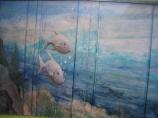 child's room submarine mural