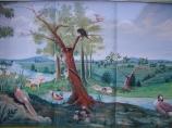 child's room river mural