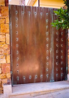 faux bronze on garage door