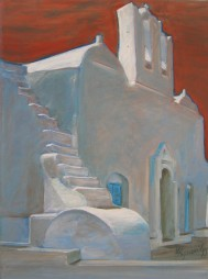 Church at Artemonas,acrylic on canvas, 75x55, 2006