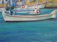 Cool boats, acrylic on canvas, 75x55, 2006