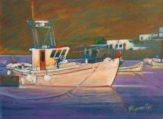 boats ,acrylic on canvas, 70x55 ,2006