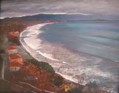 Molyvos bay,acrylic on canvas, 80x60 ,2006