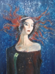 medusa, acrylic on canvas, 120x60, 2004