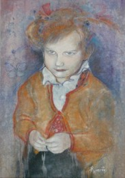 little girl, acrylic on canvas, 90x55, 2004