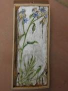 flowers, acrylic on wood, 2012