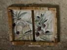 olive, acrylic on wood, 2012
