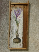 crocus, acrylic on wood, 2012