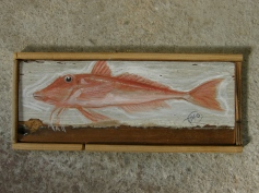 fish, acrylic on wood, 2012