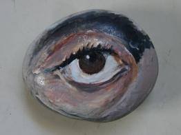 fayoum, acrylic on stone, 2014